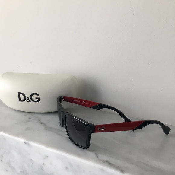 1006850b9118 Dolce   Gabbana Other - Black and Red D G Sunglasses Model ...